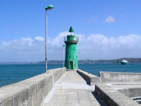 Seezeichen an der Hafenausfahrt Camaret